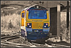 Freightliner 70007 - Doncaster (96tommy) Tags: new light station electric train movement power general diesel engine railway class locomotive ge 70 rare freight picnik haul doncaster freightliner 70007 powerhaul 0z70