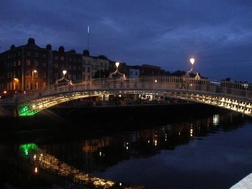 Dublin by night.