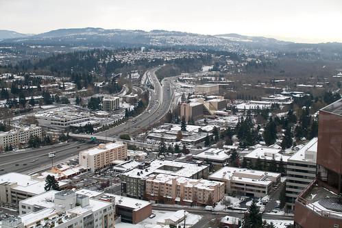 Bellevue under snow