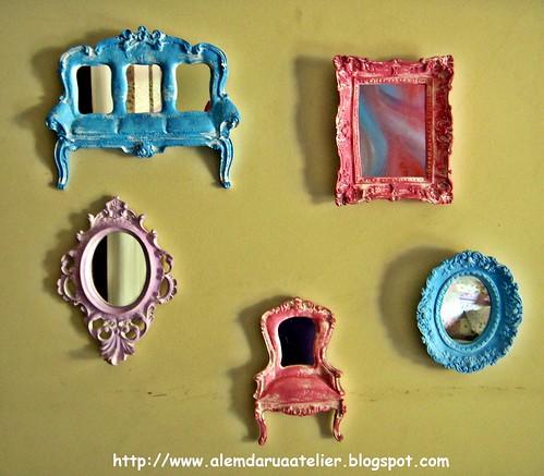 Mini Espelhos em Pátina