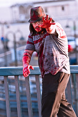Jingle Brains 2010 (Mr. Muggles) Tags: santa christmas dead march photo costume blood gallery zombie walk flash creepy mob monica gore gathering horror undead shuffle crawl lurch grotesque 2010 zombiewalk