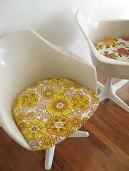 for the love of Burke... (dottie angel) Tags: vintage eclectic midcentury barkcloth dottieangel grannychic burkechairs