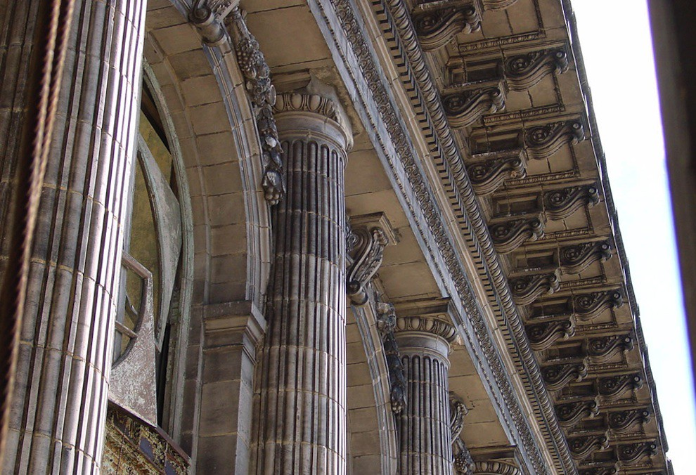 Architectural detail on Michigan Central Station