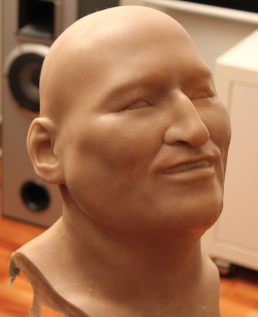head of Evo Morales in Silicone