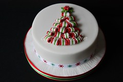 Christmas cake no 2 ...... (abbietabbie) Tags: tree cake present icing ribbon marzipan fondant richfruit