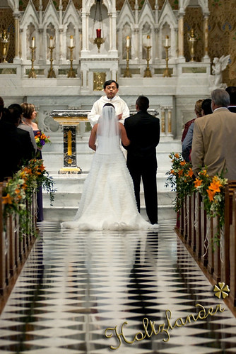 Wedding Ceremony at St. Andrews Catholic Church