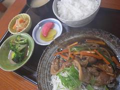 一那「生姜焼定食」(730円?)