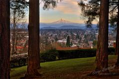 Mount Tabor View (Gary Randall) Tags: sunset oregon portland view mthood mounthood citypark mounttabor mttabor garyrandall dsc53022