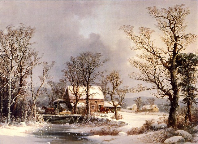 Winter in the Country, The Old Grist Mill 1862