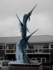 Guess Where Isle of Wight (MomentsBeingMe) Tags: sculpture fish cold ice water fountain statue frozen isleofwight chilly greyday gwiow