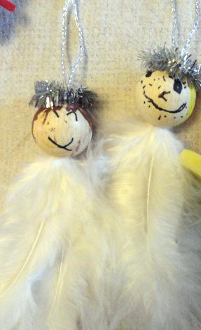 Feathery Angel Ornaments