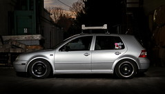 VW (Andrew Barshinger Photography) Tags: car vw silver golf interesting poke strobe stance hellaflush