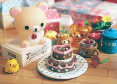 ♡ (Cyristine) Tags: pink cute cake toys japanese miniatures kawaii rement dollhouse rilakkuma