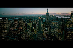 Gotham City (James Yeung) Tags: nyc light sunset newyork skyline night landscape cityscape rockefellercentre cinematic