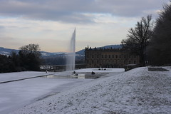 Chatsworth in the snow (Paul Sloane) Tags: christmas xmas winter snow ice derbyshire chatsworth chatsworthgarden