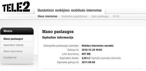 TELE2: Išankstinio mokėjimo 3G internetas + Konkursas