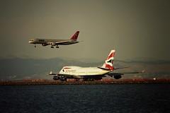 SFO British Airways Boeing 747-400 Northwest  757