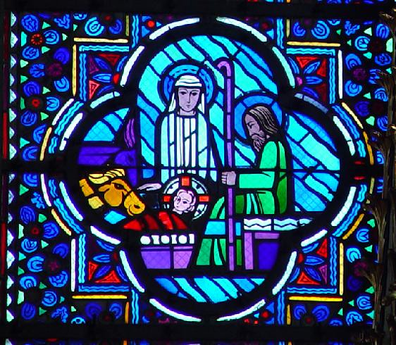 Nativity with Mary, Joseph and the New-Born Christ