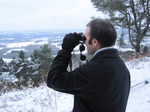 Leith Hill in the snow