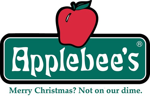 Applebee's - Merry Christmas but not on our dime