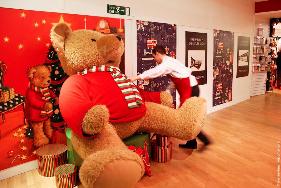 Если огромный медведь вам не по карману, можно приобрести и обычного плюшевого мишку.
