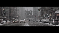 Magic hour (Dj Poe) Tags: street new york city nyc winter snow cinema storm canon eos canal is chinatown dj mark manhattan wide ii crop 5d snowing letterbox usm middle cinematographer cinematic poe 2010 70200mm f28l 5dmkii 5dmk2