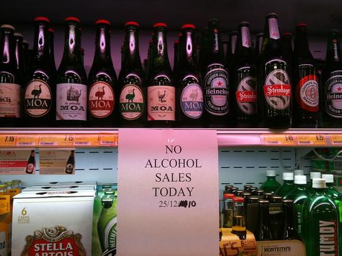 クリスマスに酒を売らないスーパーマーケット