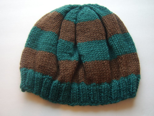 Slouchy hat, side view