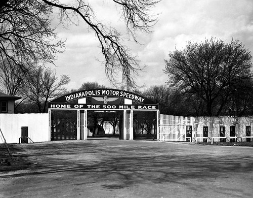The Main Gate to the Indianapolis Motor Speedway in 1946