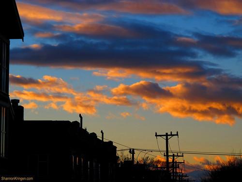 icy warm sunset