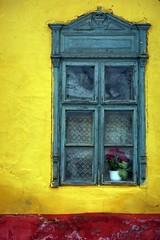Boldog Új Évet / Happy New Year! (.e.e.e.) Tags: windows film window wall architecture analog hungary village explore analogue filmscan canoneos33 kodakektar100 epsonv350photoscanner valóbanilyenszínevolt canonef1885usm