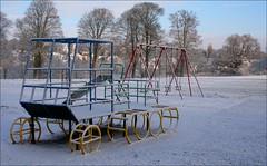Toboggans for Swings (Canis Major) Tags: winter snow playground bristol amusements subzero eastville eastvillepark