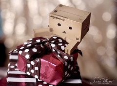 Happy New Year (SaRa Meow  .. / @sosoMeow) Tags: new red cute happy sara bokeh year gift meow danbo
