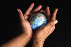 The World is in your Hand (Soumen Nath) Tags: world photography globe earth earthday yaseen worldinyourhand soumen savetheearth saveearth protecttheearth cannon50d soumennath