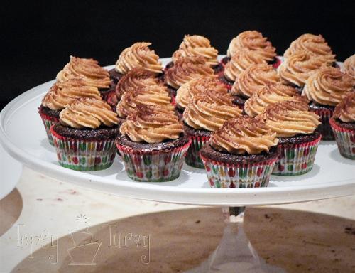 glass cake stand milk glass mini cupcakes peanut butter chocolate
