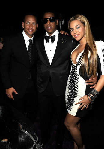 "Alex ""A-Rod"" Rodriguez, Jay-Z and Beyonce Knowles New Year's Eve at Marquee Nightclub in The Cosmopolitan of Las Vegas"