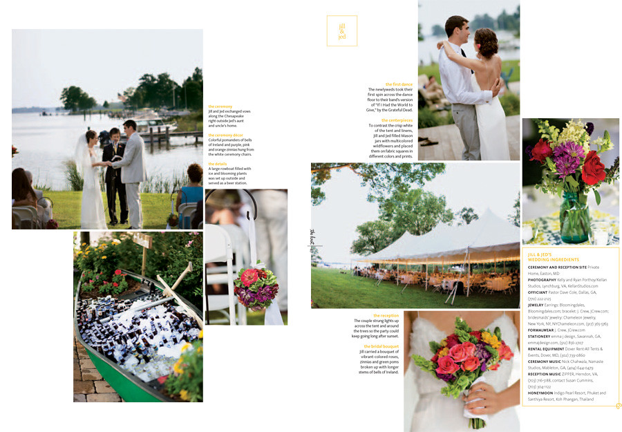 Published in The Knot - D.C. MD VA Spring Summer 2011