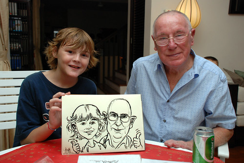 Caricature live sketching for private Christmas Party 2010 - 6