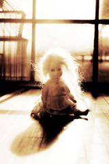 Shadows in the attic (Ragazza*) Tags: shadows ghost bisque attic handmadedoll thursdayschild myling