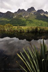 Mirror Lake (bobo moirangthem) Tags: newzealand portrait mountain lake reflection water weather landscape mirror nikon mirrorlake like sigma wideangle mtcook southisland milfordsound teanau 1020 fiordland d90 mttasman