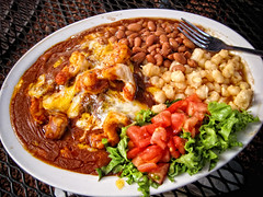 01.08.11 (Adriene Hughes) Tags: new 2001 food mexico photography beans shrimp mexican photoblog photoaday taos hominy 2011 adrienehughes softservegirl photo365