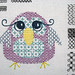 colourful blackwork owl