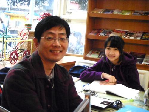台北行道會的教友父女
