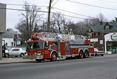 QuincyFD L1 QuincyAdamsMA 4-6-1988ndc (ironmike9) Tags: fire engine apparatus fd laddertruck quincyfiredepartment