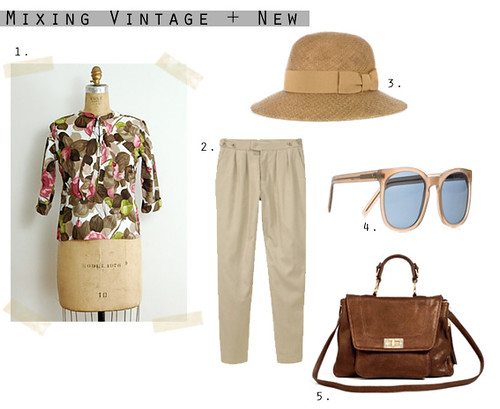 How to Wear Vintage: Illustrated Blooms Blouse