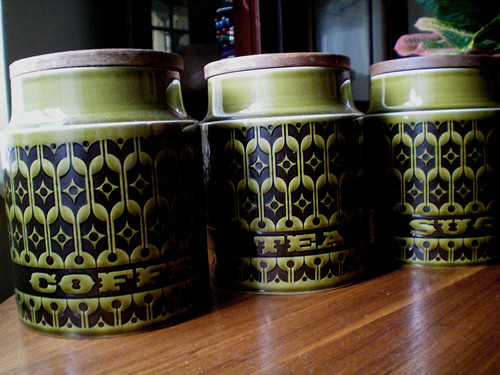 Xmas Gift: thrifted Hornsea jars
