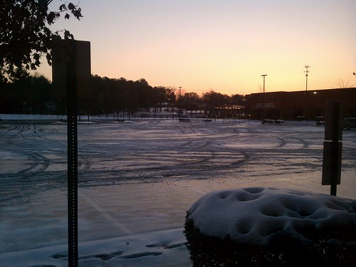 Office Parking Lot: Wednesday 1/12/11