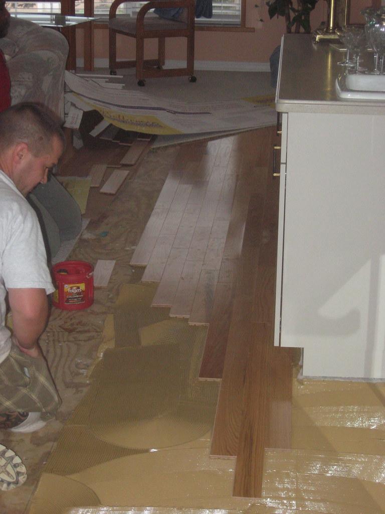 Oak floor in main salon