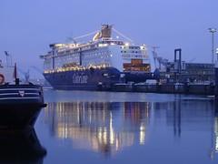COLOR FANTASY - IMO 9278234 (arnekiel) Tags: color ferry nightshot fantasy bluehour kiel colorline colorfantasy cruiseferry