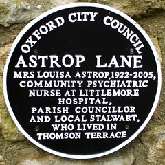 Photo of Louisa Astrop black plaque